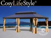 Tendas gazebo de jardim da CosyLifeStyle® - agora num elegante castanho